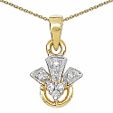 0.10CTW White Cubic Zircon 14K Yellow Gold Plated .925 Sterl