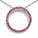 0.64CTW Genuine Ruby .925 Sterling Silver Pendant