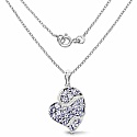 3.39CTW Genuine Tanzanite & White Topaz .925 Sterling Silver Pe