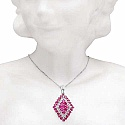 1.68CTW Genuine Created Ruby .925 Sterling Silver Pendant