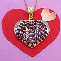 3.52CTW Genuine Amethyst 14K Yellow Gold Plated .925 Sterling S