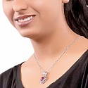 6.57CTW Dyed Ruby .925 Sterling Silver Pendant