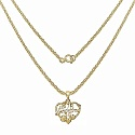Heart Shape Grandma 14K Yellow Gold Plated .925 Sterling Sil