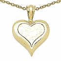 Heart Shape 14K Yellow Gold Plated .925 Sterling Silver Designe