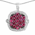 1.52CTW Genuine Ruby .925 Sterling Silver Pendant