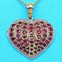 2.72CTW Genuine Ruby 14K Yellow Gold Plated .925 Sterling Silve
