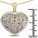 2.26CTW Genuine Tanzanite 14K Yellow Gold Plated .925 Sterling