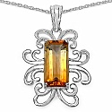 Inspirations 4.75CTW Fancy Shape Genuine Citrine .925 Sterling