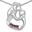 Mother's Day Special: 0.20CTW Genuine Ruby .925 Sterling Sil