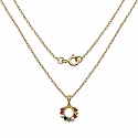0.65CTW Navratna 14K Yellow Gold Plated .925 Sterling Silver