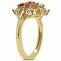 0.97CTW Navratna 14K Yellow Gold Plated .925 Sterling Silver