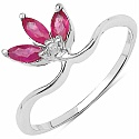 0.60CTW Genuine Ruby .925 Sterling Silver Ring