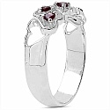 0.30CTW Genuine Garnet .925 Sterling Silver Ring