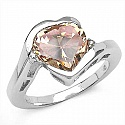 5.85CTW Champagne & White Cubic Zircon .925 Sterling Silver