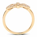 0.22CTW White Diamond 14K Yellow Gold Ring
