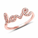 0.18CTW White Diamond 14K Rose Gold Ring