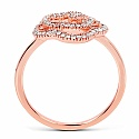 0.27CTW White Diamond 14K Rose Gold Ring