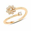 0.11CTW White Diamond 14K Yellow Gold Ring
