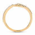 0.16CTW White Diamond 14K Yellow Gold Ring