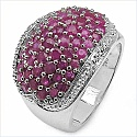 2.82CTW Genuine Ruby .925 Sterling Silver Ring
