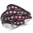 1.62CTW Genuine Ruby .925 Sterling Silver Ring