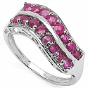 1.90CTW Genuine Ruby .925 Sterling Silver Ring