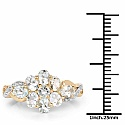 1.54CTW Genuine Aquamarine 14K Yellow Gold Plated .925 Sterling