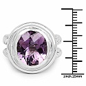 6.92CTW Genuine Amethyst .925 Sterling Silver Ring