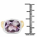 7.78CTW Genuine Amethyst .925 Sterling Silver Gold Plated Ring