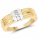 0.50CTW Genuine White Cubic Zircon .925 Sterling Silver Gold Pl