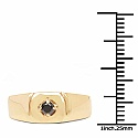 0.16CTW Genuine Black Diamond .925 Sterling Silver Gold Plated