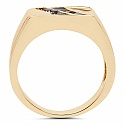 0.09CTW Genuine Black Diamond 14K Yellow Gold Plated .925 Sterl