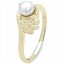0.70CTW Genuine Pearl & White Cubic Zircon .925 Sterling Sil