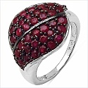 1.72CTW Genuine Ruby .925 Sterling Silver Ring