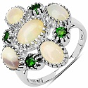 2.03CTW Genuine Opal & Chrome Diopside .925 Sterling Silver