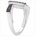 0.72CTW Genuine Ruby .925 Sterling Silver Ring