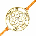 Gold Plated Brass 'Promise For Life Time' White Cubic Zircon