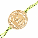 Gold Plated Brass 'Love You Bro' Rakhi