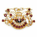 7.80 Grams White Cubic Zirconia, Red Glass & Maroon Glass Wh