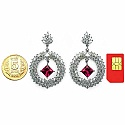 18.66CTW Genuine Ruby & White Cubic Zirconia .925 Sterling S