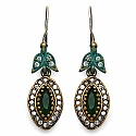 13.00 Grams Green Onyx & White Cubic Zirconia Black Rhodium
