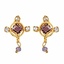 Gleam Touch 3.40 Grams Purple Cubic Zirconia & White Cubic Zirc