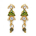 2.50 Grams Green Cubic Zirconia & White Cubic Zirconia Brass To