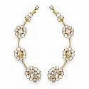 6.60 Grams White Cubic Zirconia Gold Plated Brass Ear Wraps