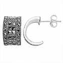 5.20 Grams Marcasite .925 Sterling Silver Earrings