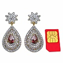 71.60 Grams Multicolor Glass & White Cubic Zirconia Gold Pla