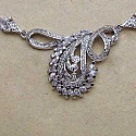 25.50 Grams American Diamond Brass Necklace Set