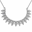 33.50 Grams American Diamond Brass Necklace Set
