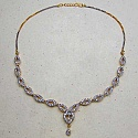 22.50 Grams American Diamond Gold Plated Brass Necklace Set