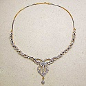 26.10 Grams American Diamond Gold Plated Brass Necklace Set